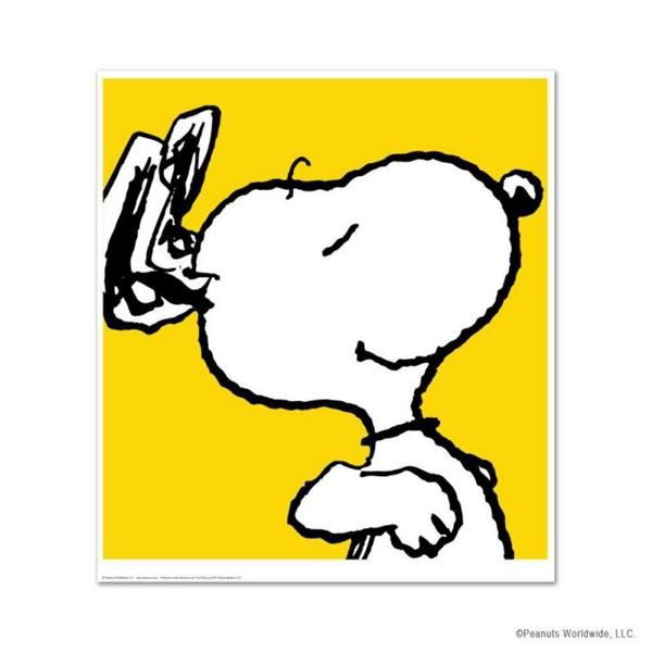 """Peanuts, """"Snoopy: Yellow"""" Hand Numbered Limited Edition Fine Art Print with Certificate of Authentic"""