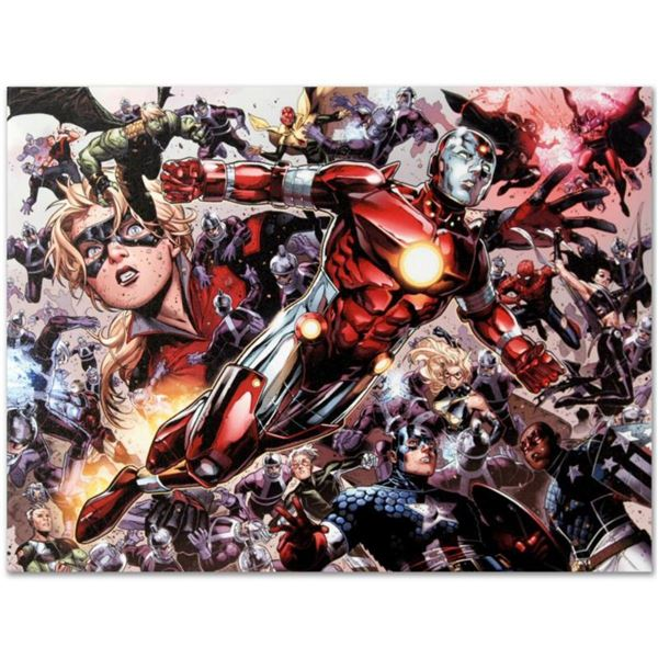 """Marvel Comics """"Avengers: The Children's Crusade #5"""" Numbered Limited Edition Giclee on Canvas by Jim"""