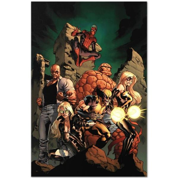 """Marvel Comics """"New Avengers #7"""" Numbered Limited Edition Giclee on Canvas by Tim Bradstreet with COA"""