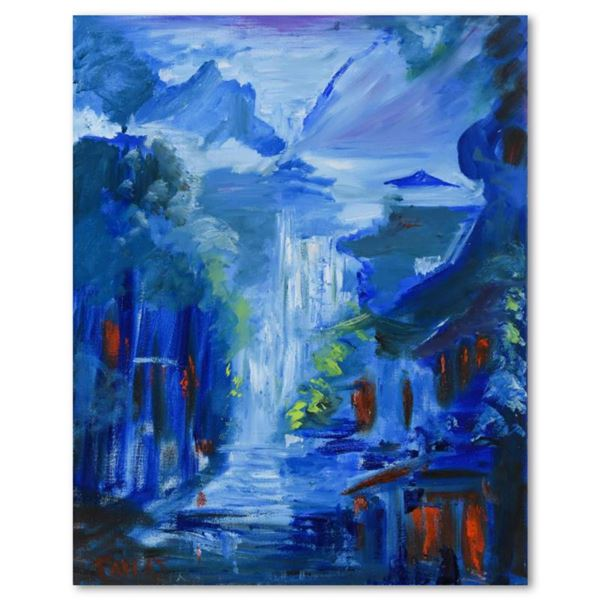 """Elliot Fallas, """"Into the Mist"""" Original Oil Painting on Canvas, Hand Signed with Letter of Authentic"""