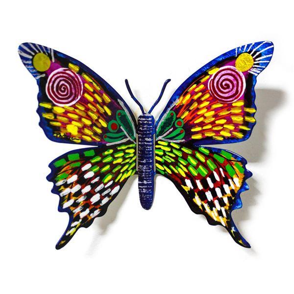 "Patricia Govezensky- Original Painting on Cutout Steel ""Butterfly CXLVII"""