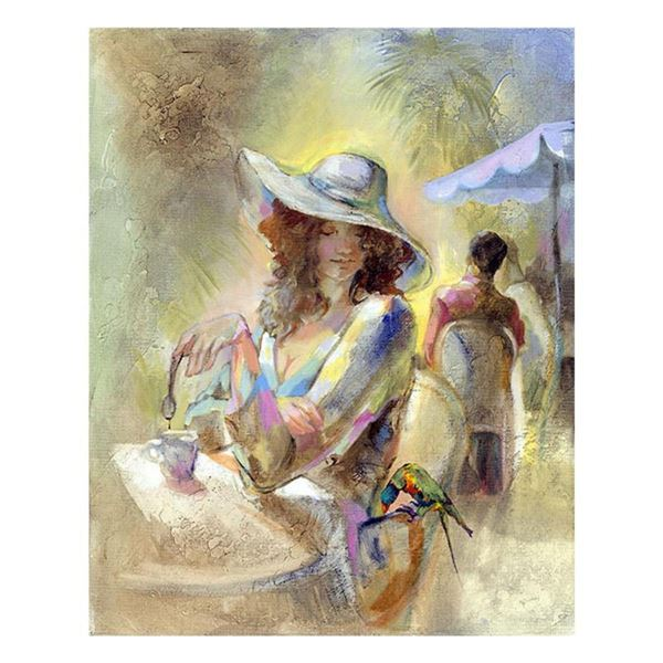 """Lena Sotskova, """"Miss Sunchine"""" Hand Signed, Artist Embellished Limited Edition Giclee on Canvas with"""
