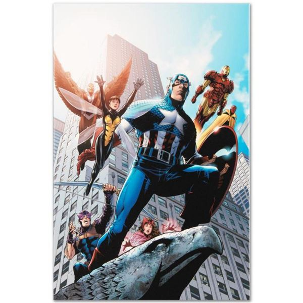"""Marvel Comics """"Avengers #82"""" Numbered Limited Edition Giclee on Canvas by Scott Kolins with COA."""
