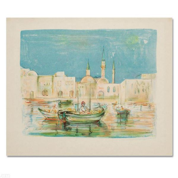 """""""Akko"""" Limited Edition Lithograph by Edna Hibel (1917-2014), Numbered and Hand Signed with Certifica"""
