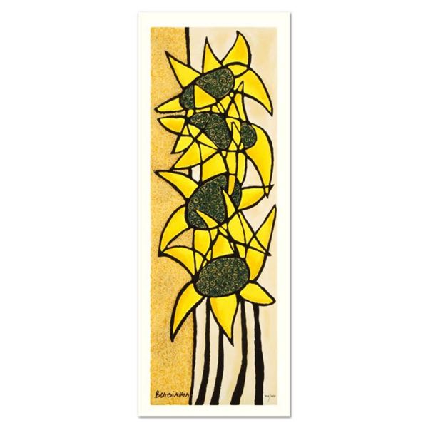 """Avi Ben-Simhon, """"Sunflower Trio"""" Limited Edition Serigraph, Numbered and Hand Signed with Certificat"""