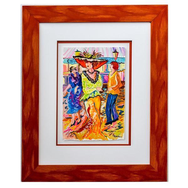"""Patricia Govezensky- Original Watercolor """"Dancing"""""""