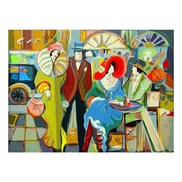 """Isaac Maimon, """"Cafe Society"""" Limited Edition Serigraph, Numbered and Hand Signed with Letter of Auth"""
