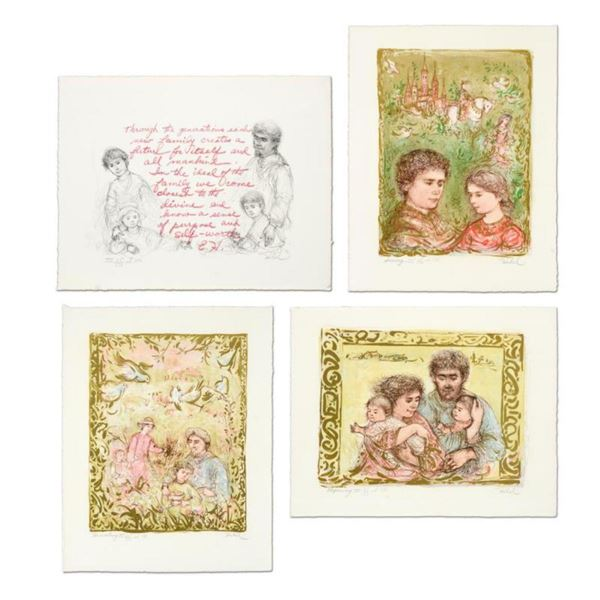 """Edna Hibel (1917-2014), """"The Family Suite Edition III"""" 4-Piece Limited Edition Lithograph Suite, Num"""