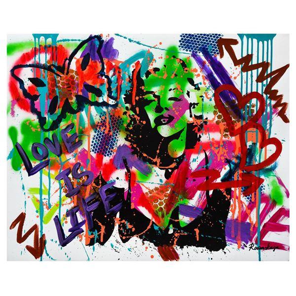"""Nastya Rovenskaya- Mixed Media """"Shadow of Marilyn Monroe"""""""