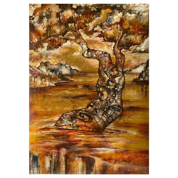 "John Milan, ""Power Surge"" Hand Signed Original Painting with COA."