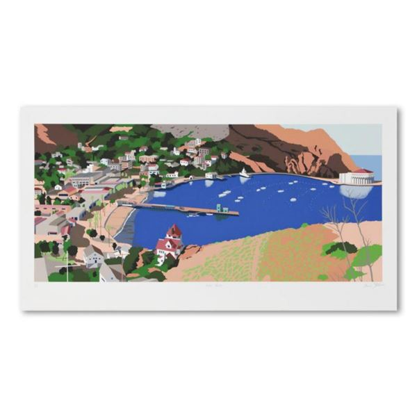 """Armond Fields (1930-2008), """"Avalon Harbor"""" Limited Edition Hand Pulled Original Serigraph, Numbered"""
