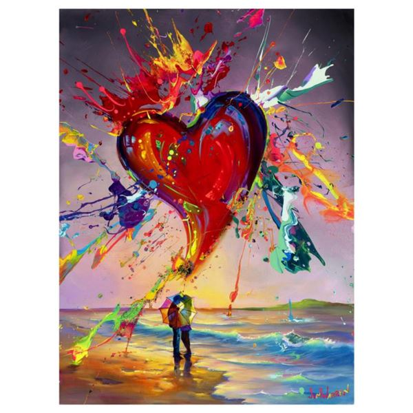 """Jim Warren, """"Love is in the Air"""" Hand Signed, Artist Embellished AP Limited Edition Giclee on Canvas"""