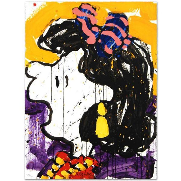 """""""Glam Slam"""" Limited Edition Hand Pulled Original Lithograph by Renowned Charles Schulz Protege, Tom"""