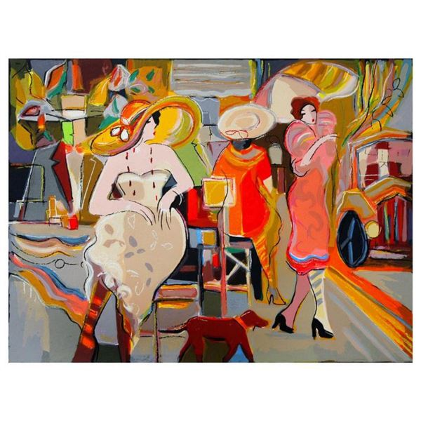 """Isaac Maimon, """"Elite Boulevard"""" Limited Edition Serigraph, Numbered and Hand Signed with Letter of A"""