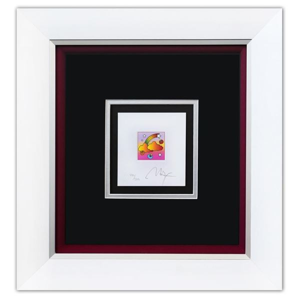 """Peter Max- Original Lithograph """"Rainbow with Clouds (Mini)"""""""