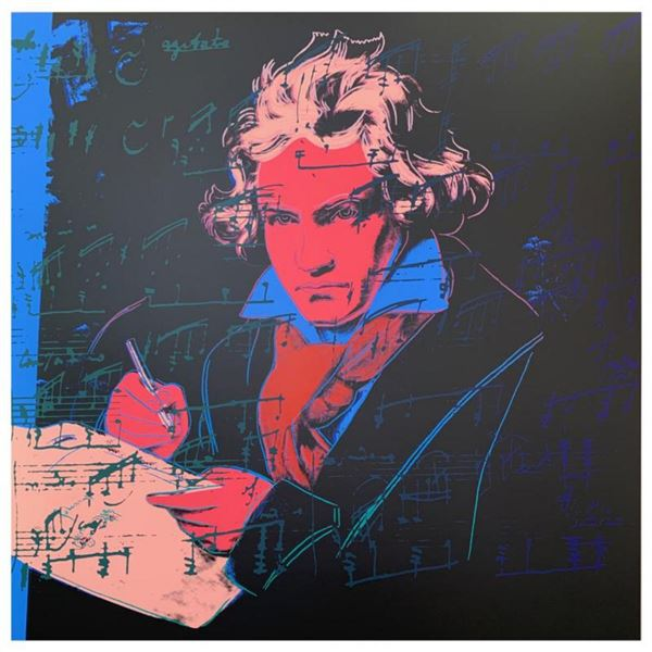 """Andy Warhol """"Beethoven"""" Limited Edition Silk Screen Print from Sunday B Morning."""