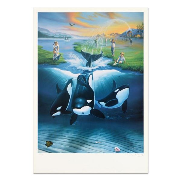 """Wyland, """"Keiko's Dream"""" Limited Edition Lithograph, Numbered and Hand Signed with Certificate of Aut"""