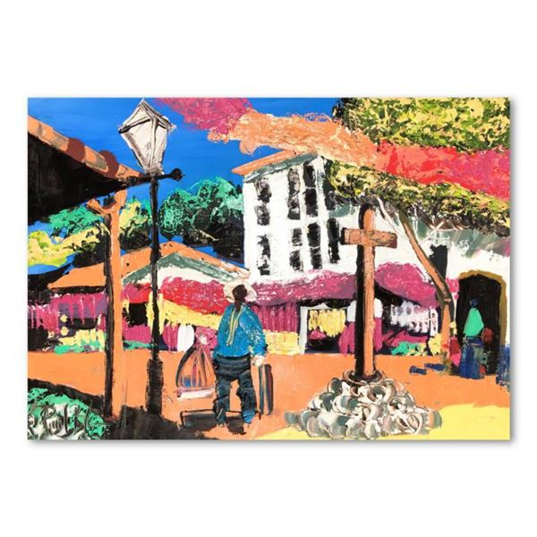 """Paul Blaine Henrie (1932-1999), """"Afternoon on Olivera St"""" Hand Signed Original Painting on Canvas (3"""