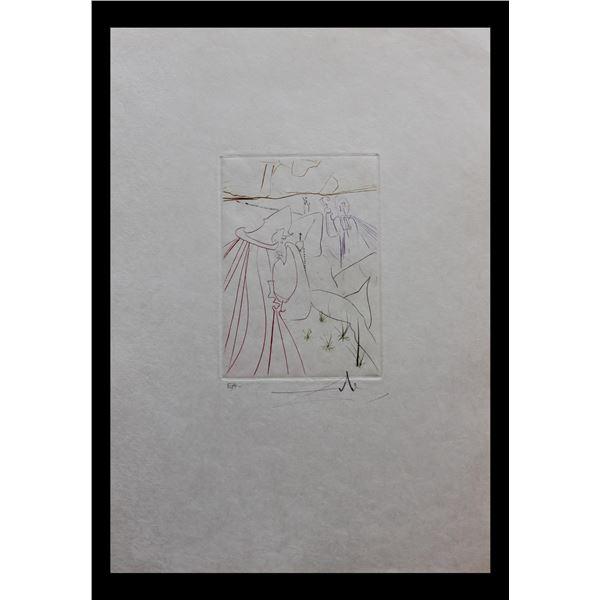 "Salvador Dali- Original Engravings in color ""La Ressuscite"""