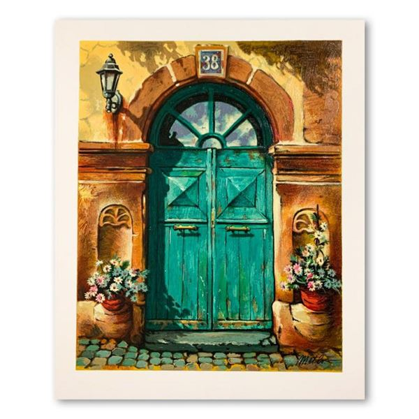 """Anatoly Metlan, """"House No. 38"""" Hand Signed Limited Edition Serigraph on Paper with Letter of Authent"""
