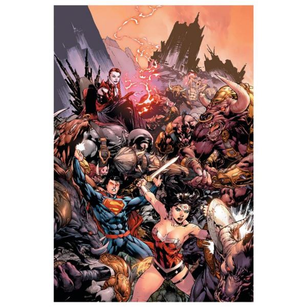 """DC Comics, """"Superman/ Wonder Woman #17"""" Numbered Limited Edition Giclee on Canvas by Ed Bened with C"""