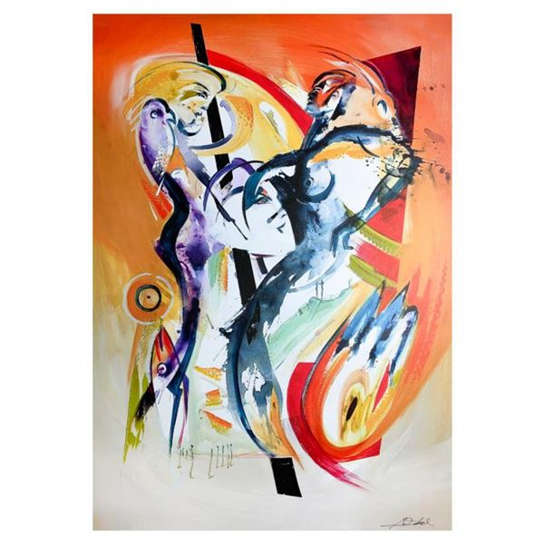 """Alfred Gockel, """"Leben wie in Paradise"""" Hand Signed Limited Edition on Canvas with Letter of Authenti"""