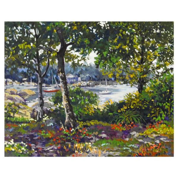 """John Powell, """"Enchanted Coast"""" Limited Edition Serigraph on Canvas, Numbered and Hand Signed with Le"""