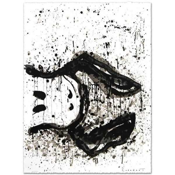 """""""Watchdog 3 O'Clock"""" Limited Edition Hand Pulled Original Lithograph by Renowned Charles Schulz Prot"""
