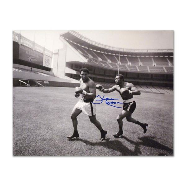 """Must-Have Signed Sports Photo. """"Ken Norton and Ali, Yankee Stadium"""" 40"""" x 30"""" Hand-Autographed by Ke"""
