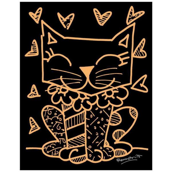 """Romero Britto """"So Much To Love"""" Hand Signed Limited Edition Giclee on Canvas; COA"""
