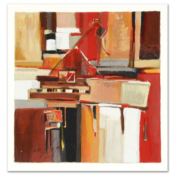 """Yuri Tremler, """"Piano"""" Limited Edition Serigraph by Yuri Tremler, Hand Signed with Certificate of Aut"""