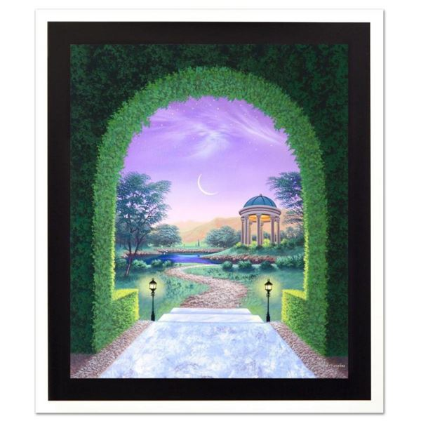 """Jon Rattenbury, """"The Garden Doorway"""" Limited Edition Giclee on Canvas, Numbered and Hand Signed by t"""