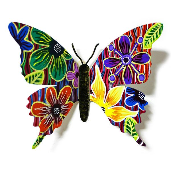 """Patricia Govezensky- Original Painting on Cutout Steel """"Butterfly CLII"""""""