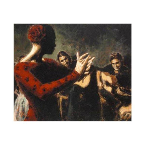 "Fabian Perez, ""Study Tablado Flamenco V"" Hand Textured Limited Edition Giclee on Board. Hand Signed"