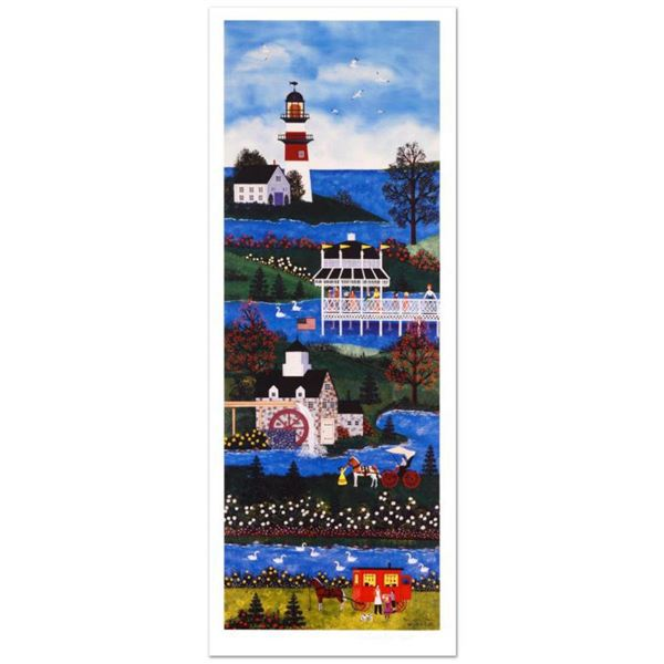 """Jane Wooster Scott, """"Springtime Cheer"""" Hand Signed Limited Edition Lithograph with Letter of Authent"""