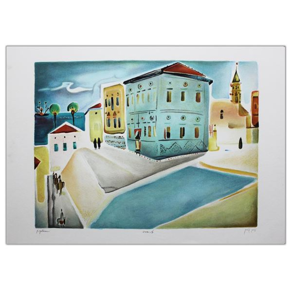 "Nachum Gutman- Original Lithograph ""House In Jaffa """