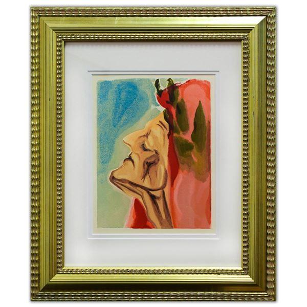 "Salvador Dali- Original Color Woodcut on B.F.K. Rives Paper ""Paradise 7"""