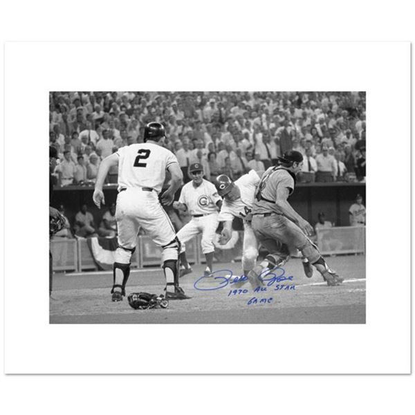 """Pete Rose, Fosse Collision"" Archival Photograph of the 1970 All-Star Game in Cincinnati, Autographe"