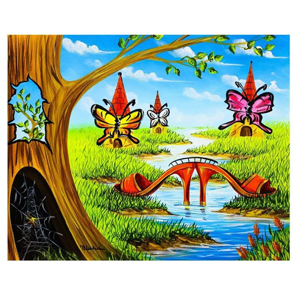 "Eugene Poliarush- Original Oil on Canvas ""A River Trip """