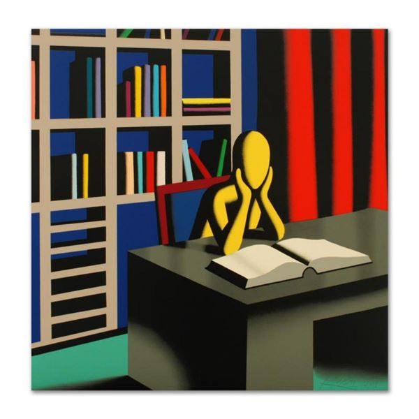 """Mark Kostabi, """"Useless Knowledge"""" Limited Edition Serigraph, Numbered and Hand Signed with Certifica"""