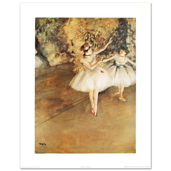 """""""Two Ballerinas"""" Fine Art Print by Degas (1834-1917), Created with EncreLuxe Printing Process Which"""