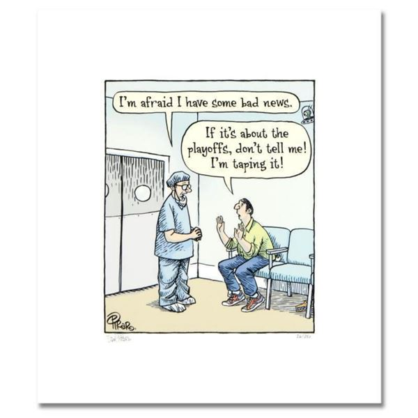 """Bizarro! """"Hospital Playoffs"""" Numbered Limited Edition Hand Signed by creator Dan Piraro; Letter of A"""