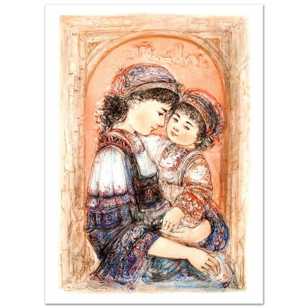 """""""Mother and Child of Thera"""" Limited Edition Lithograph (26"""" x 39"""") by Edna Hibel (1917-2014), Number"""