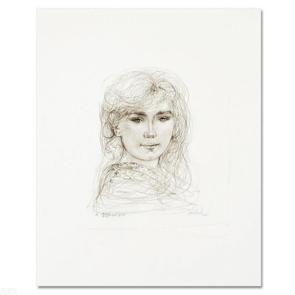 """""""Inga"""" Limited Edition Lithograph by Edna Hibel, Numbered and Hand Signed with Certificate of Authen"""