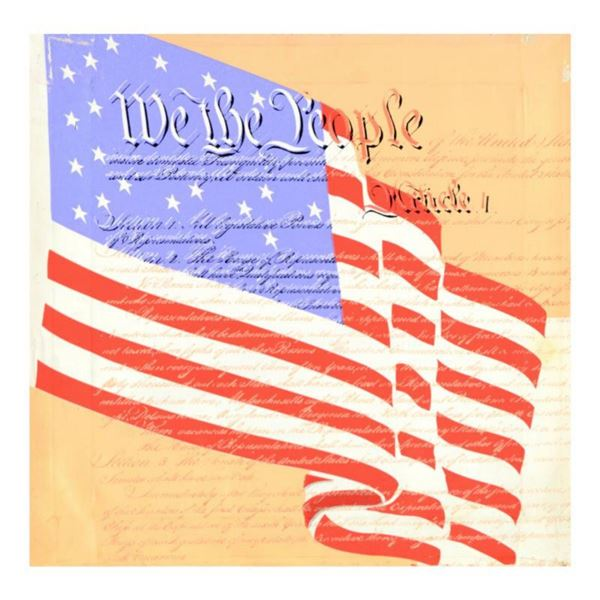 """Steve Kaufman (1960-2010) """"We the People"""" Hand Pulled Limited Edition Silkscreen on Canvas, AP Numbe"""