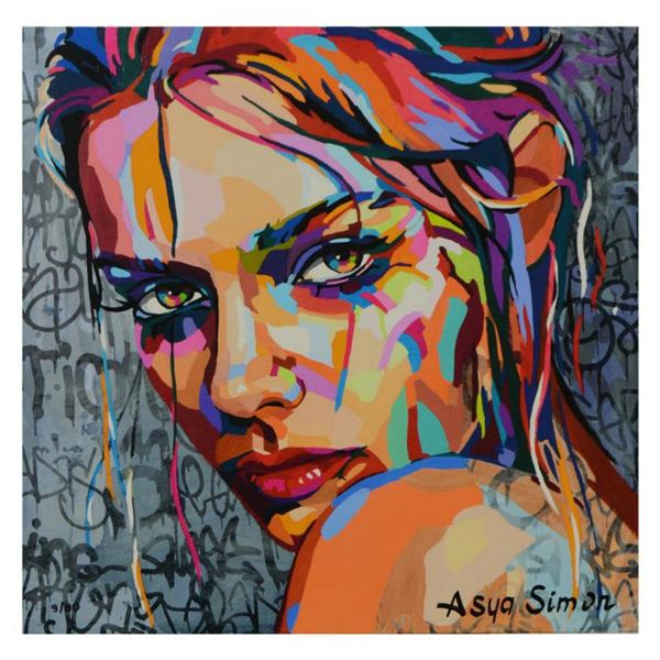 Asya Simon, Limited Edition on Canvas, Numbered and Hand Signed with Letter of Authenticity.