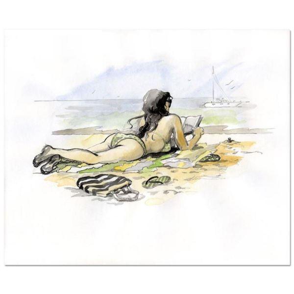 "Lena Sotskova, ""Vacation"" Mixed Media Original Painting, Hand Signed and with COA."