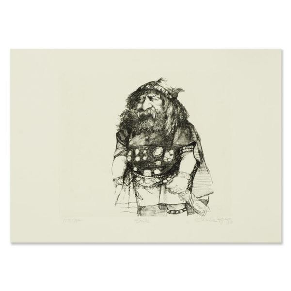 """Charles Bragg (1931-2017), """"Erik"""" Limited Edition Etching, Numbered and Hand Signed with Letter of A"""