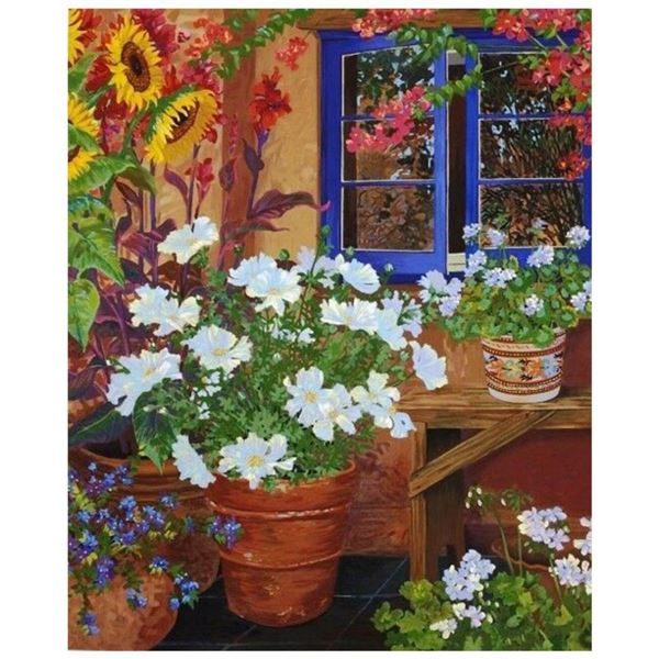 """John Powell, """"Blue Window"""" Limited Edition on Canvas, Numbered 13/95 and Hand Signed with Letter of"""