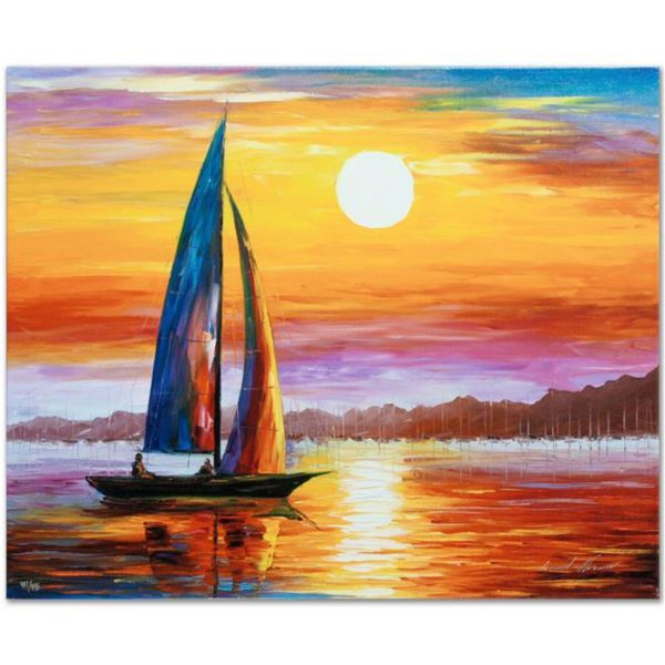 """Leonid Afremov (1955-2019) """"Lovely Solitude"""" Limited Edition Giclee on Canvas, Numbered and Signed."""